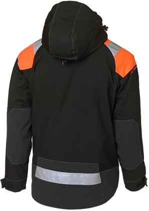 Skaljacka arbetsjacka svart orange
