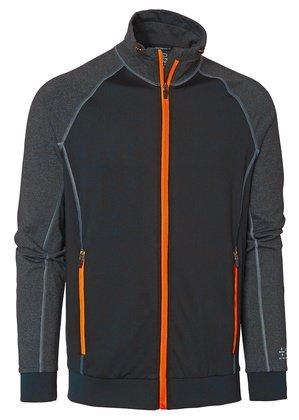 Sweatshirt Full-Zip Svart/Orange