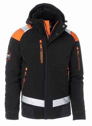 Vinterjacka svart orange med reflexer