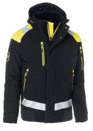 Vinterjacka svart gul med reflexer