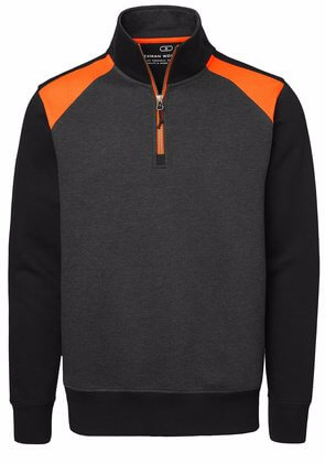 Sweatshirt Half-Zip svart och orange