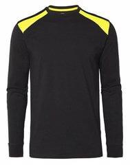 Långärmad t-shirt svart och gul